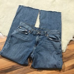 Luck Brand Jeans Size 14 Cut Hem Short Straight